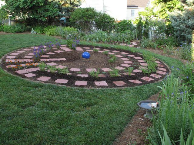 New Labyrinth Perennials Planted Pbmgarden