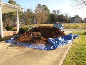 Mulch Pile On Wednesday