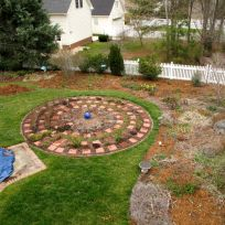 Partially Mulched Garden