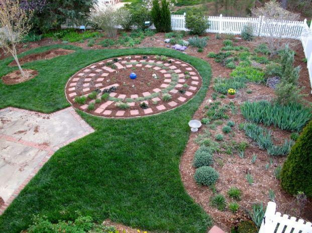 Garden View With Fresh Mulch-1