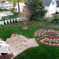 Garden View With Fresh Mulch-2