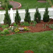 Garden View With Fresh Mulch-5