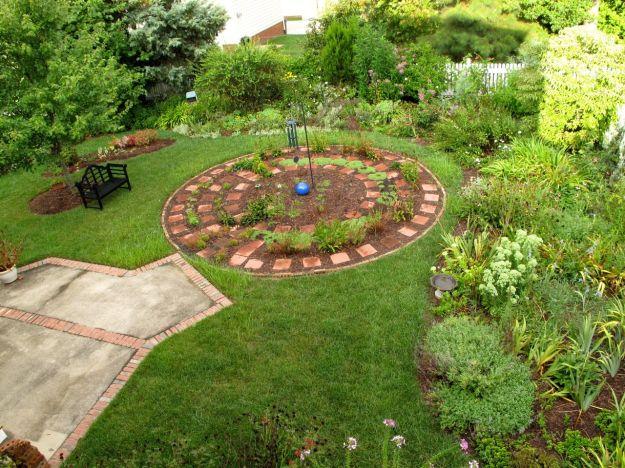 Early morning garden
