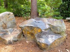 Stone Boulders Form Seating