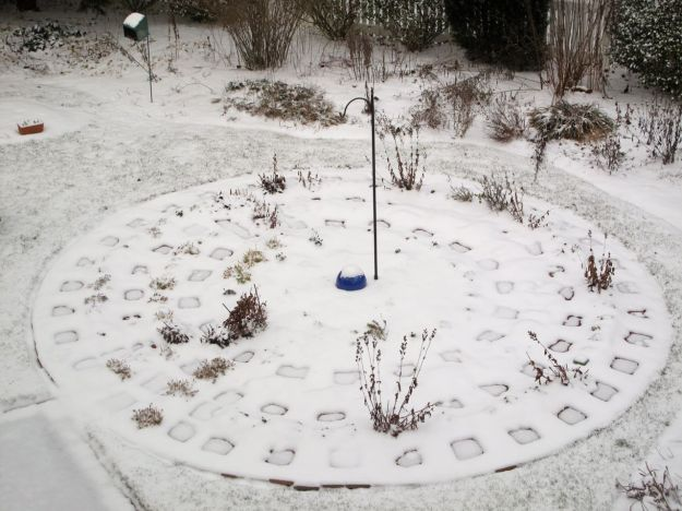 Meditation Circle In Snow