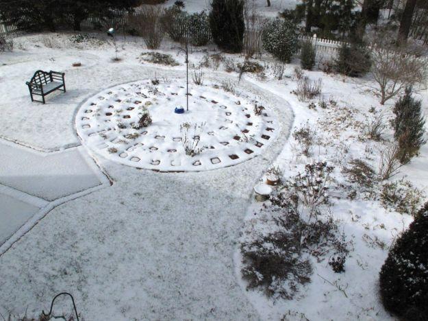 Sun On Snowy Garden