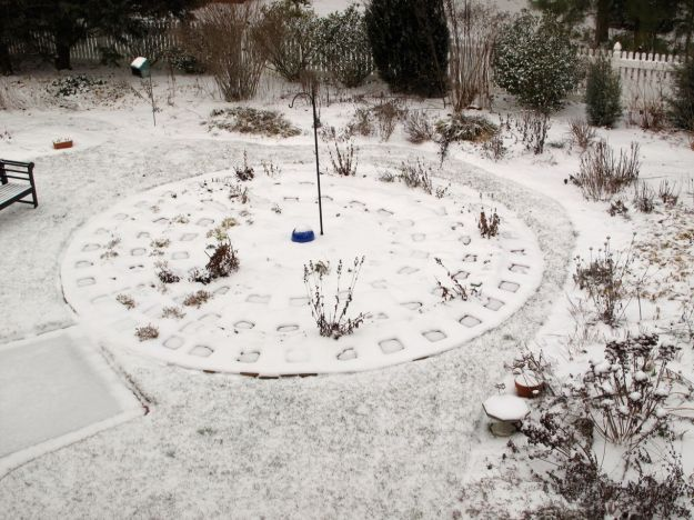 Snowy Meditation Garden