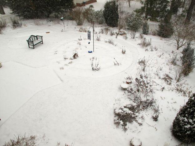 Snow at 2:35 pm