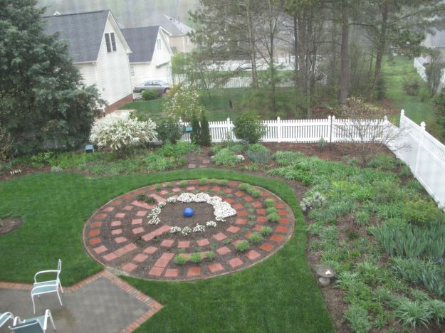2012.  Meditation Garden On Rainy Spring Morning-March 24, 2012