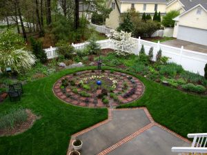 Garden View On Rainy Mid-April Morning