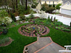 Garden View On Rainy Mid-April Morning