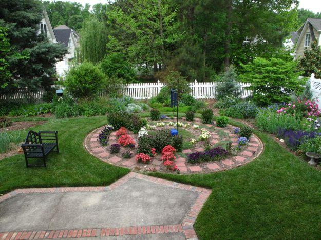 Garden View With Meditation Circlw
