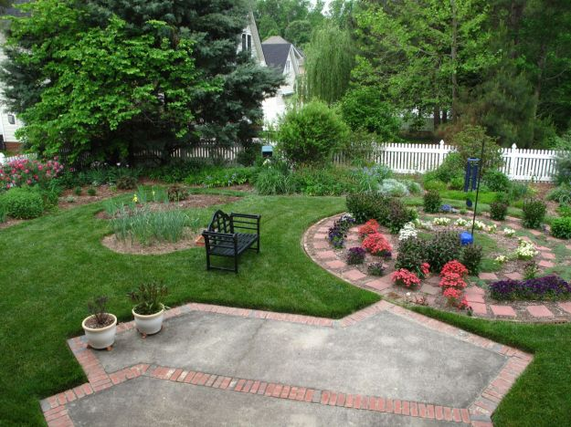 Garden View With Meditation Circle