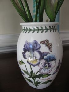 Portmerion- Botanic vase made in England