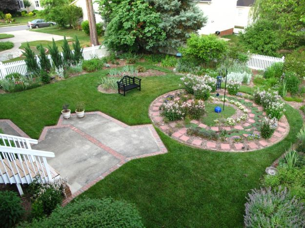Early June Garden View Facing Southern and Western Borders
