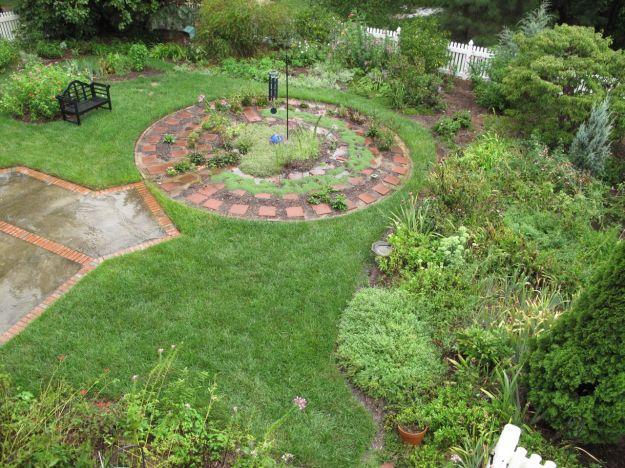The garden after a storm