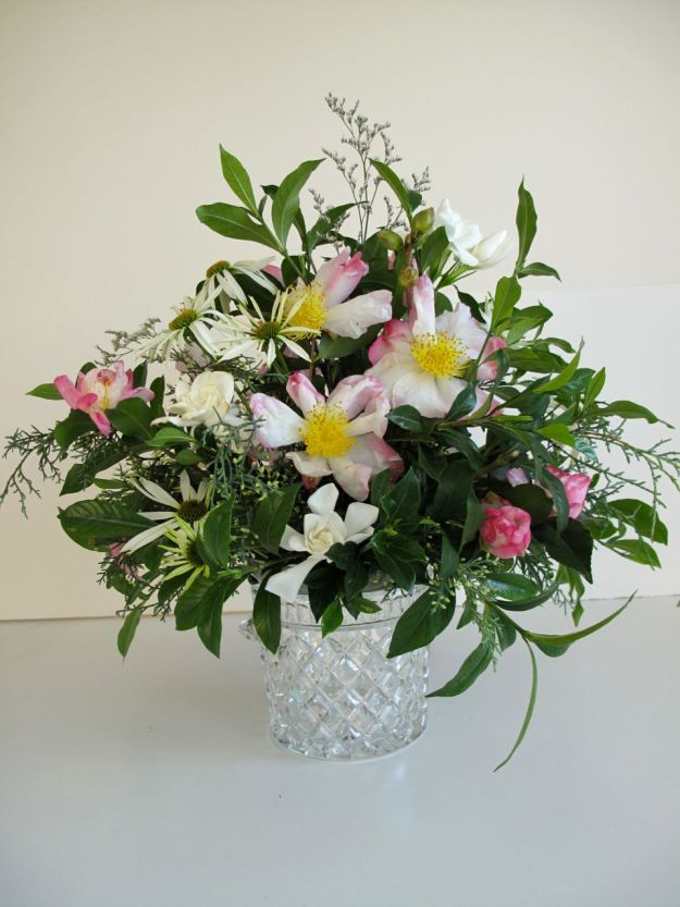 In A Vase On Monday-Cameillias and Gardenias