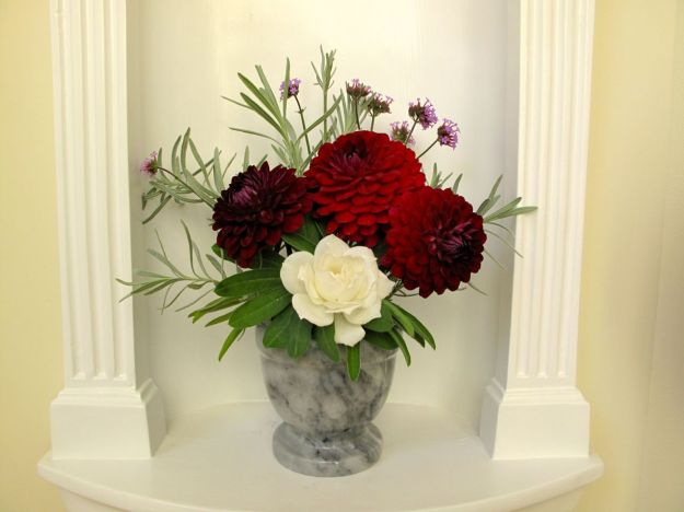 In A Vase On Monday-Marble and Red