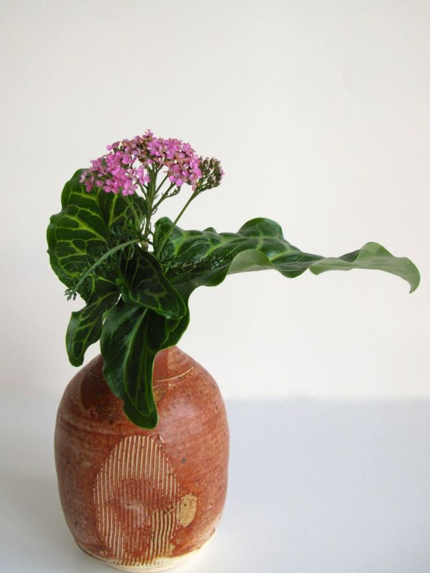 In A Vase On Monday-Arum and Yarrow