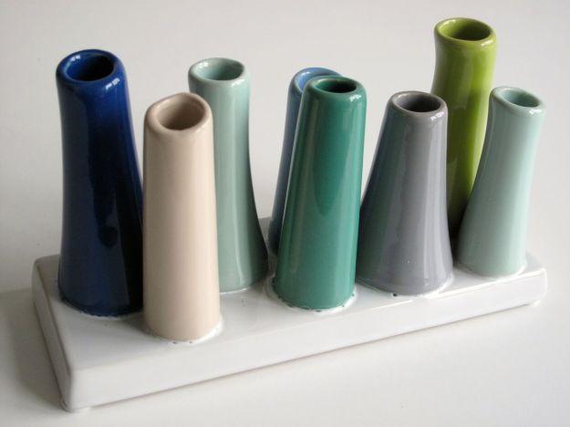 Multiple Stem Tube Flower Vase