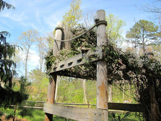 Oversized chair in Lilliput Labyrinth Garden