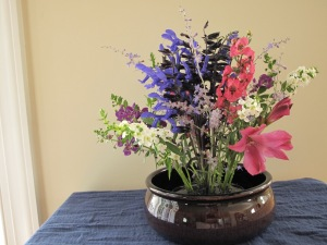 Add Angelonia to fill in design toward outer edge