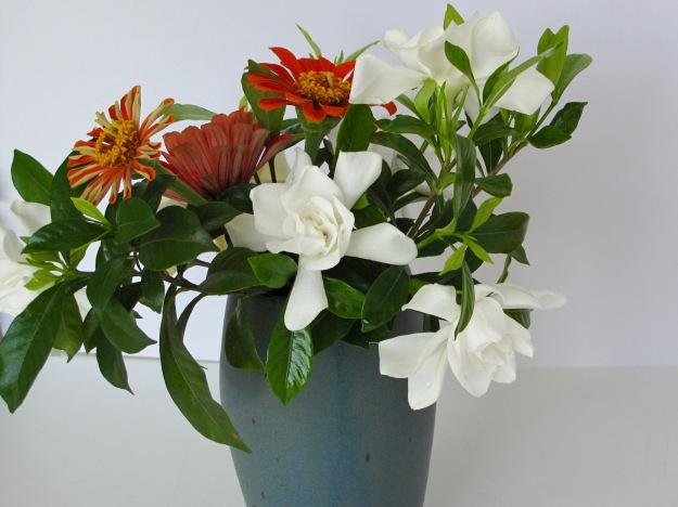 Gardenias and Zinnias