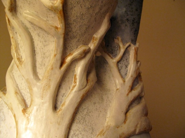 Detail of tree vase