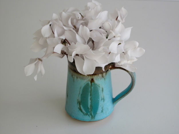 In A Vase On Monday - White and Blue
