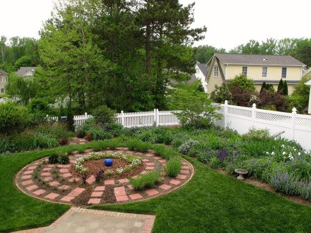 Garden View With Meditation Circle - April 19, 2012
