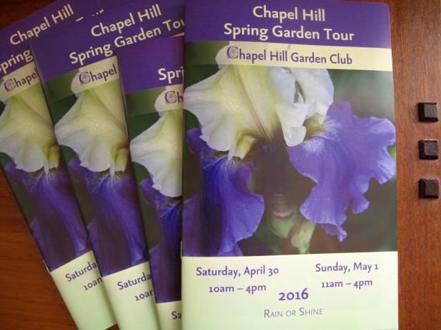 Keepsake tickets/booklets - 2016 Chapel Hill Spring Garden Tour