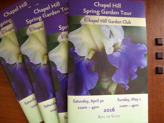 Keepsake tickets/booklets - 2016 Chapel Hill Spring Garden Tour
