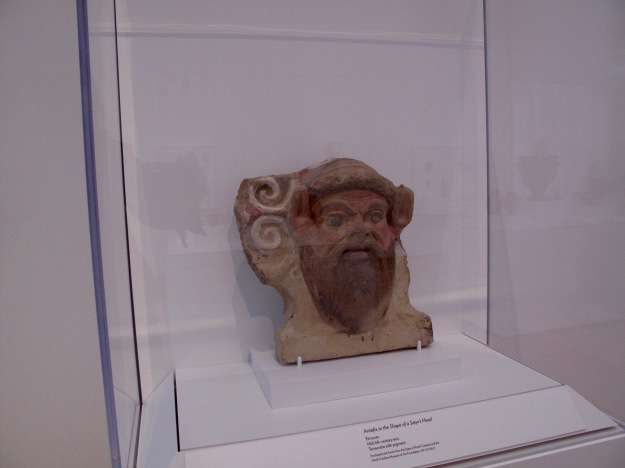 inspiration: Antefix in the Shape of a Satyr's Head, Etruscan