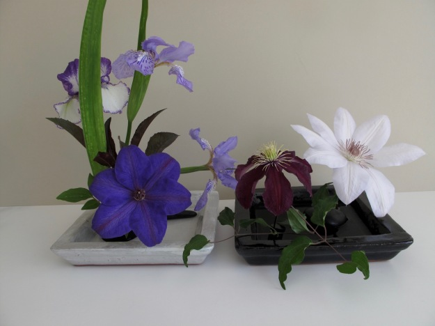 In A Vase On Monday - Clematis Trio