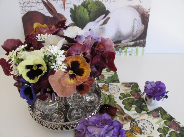In A Vase On Monday-Spring Pansies