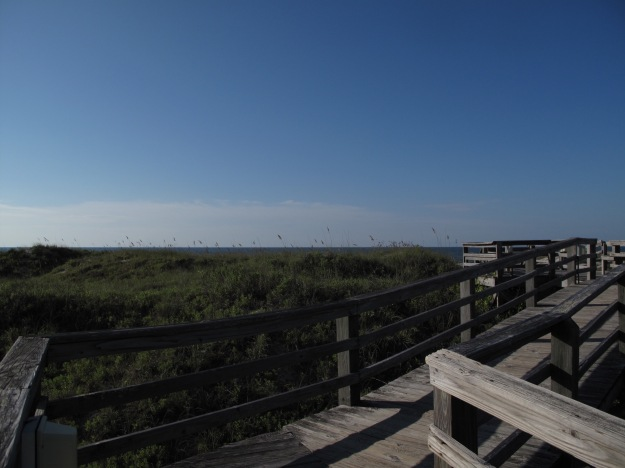On the boardwalk, heading to Atlantic Ocean