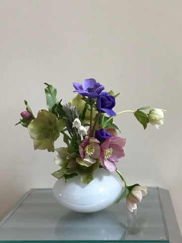 Anemones With Lenten Roses -March 26, 2018