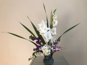 Vase Three With Gladiolus - June 25, 2018