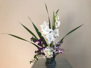 Vase Three With Gladiolus - June 25, 2018