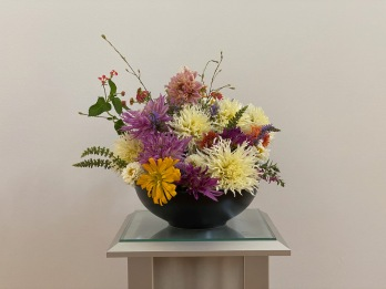 Summer Flowers In Black Vessel -August 30, 2021